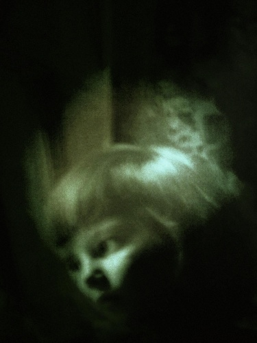 Surreal photo of a ghost girl