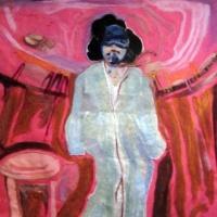 violence against women by Laurel Hausler (fiber art)