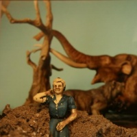 Photo of a tiny figure set in a tiny landscape by Laurel Hausler