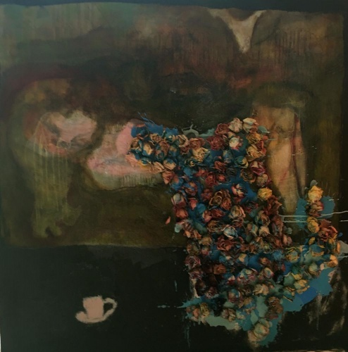 painting of a girl dreaming by Laurel Hausler