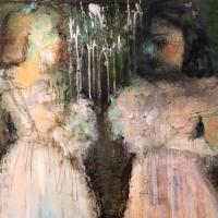 painting of debutantes by Laurel Hausler