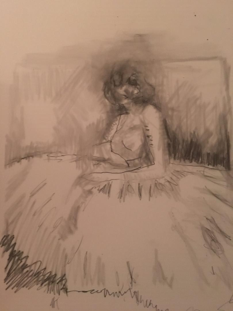 Laurel Hausler drawing of debutante