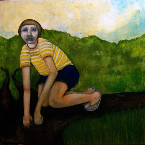 painting of a feral child
