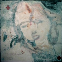 ghostly painting of a wartime nurse