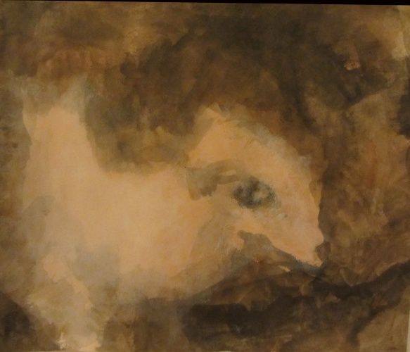 ghostly painting of an animal