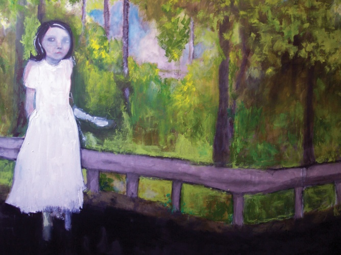 painting of a memory of a girl in spring