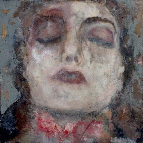 painting of Vera (reminiscent of Marlene Dumas)